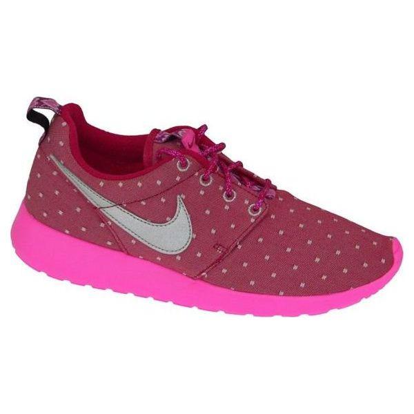 new style 99f0a de278 Nike Nike Rosherun Print Gs 677784-606 różowe 38 - Czerwone
