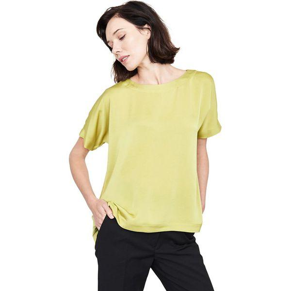 757826222a Bluzka w kolorze oliwkowym - Zielone bluzki damskie marki Simple