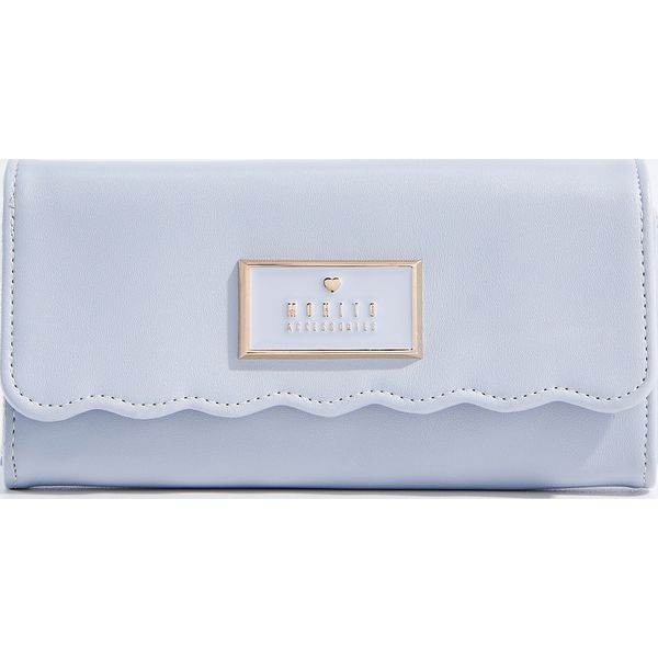 34914e2701add Pastelowy portfel z falowanym brzegiem - Niebieski - Niebieskie ...