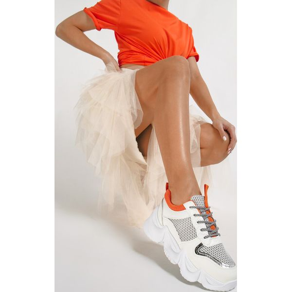 Białe Sneakersy Dorialina Białe obuwie sportowe damskie