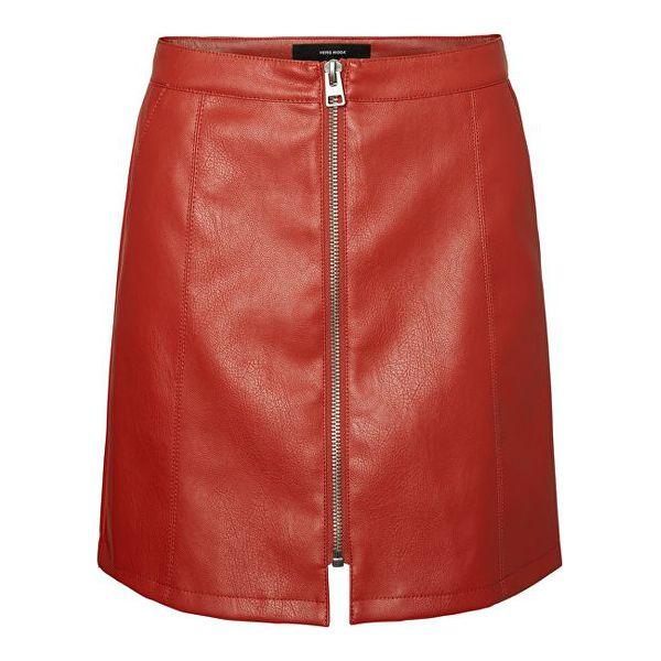 3519ea00bd Vero Moda Damska Spódnica Autorstwa Jana Connery Short Faux Leather ...