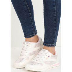 8fb05ce31ca2e Białe Buty Sportowe Riella. Białe obuwie sportowe casual damskie marki  Born2be, z materiału.