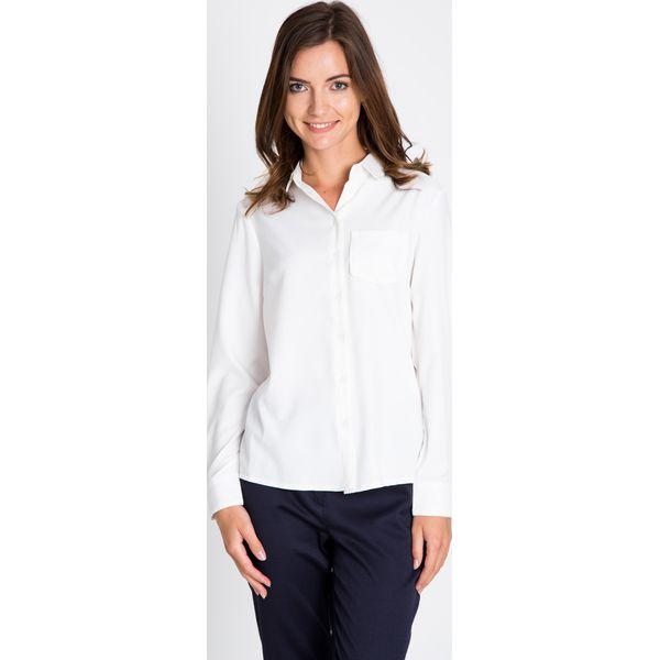 0cd65903 Biała koszula z kieszonką QUIOSQUE
