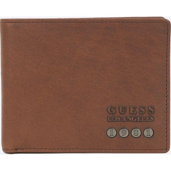 0696310215297 Guess Jeans - Portfel skórzany - Brązowe portfele damskie marki ...