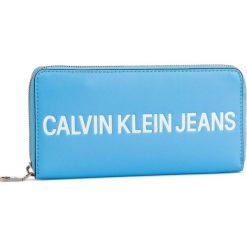 ad56281700d01 Duży Portfel Damski CALVIN KLEIN JEANS - Sculpted Logo Large Zip Around  K60K605266 445. Portfele