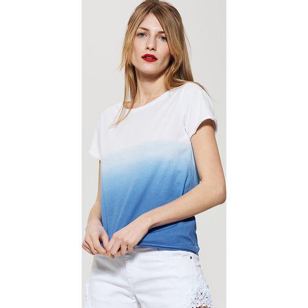 fa42616879 T-shirt ombre - Turkusowy - Niebieskie t-shirty damskie marki House ...