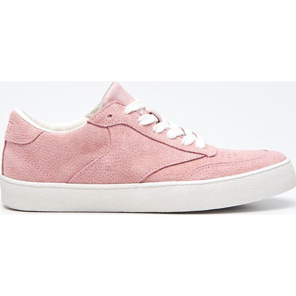 811359f33a323 Skórzane tenisówki - Różowy - Trampki damskie marki Cropp. W ...