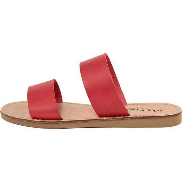 cc2d9b5bd31cb Skórzane klapki w kolorze czerwonym - Czerwone klapki damskie marki ...