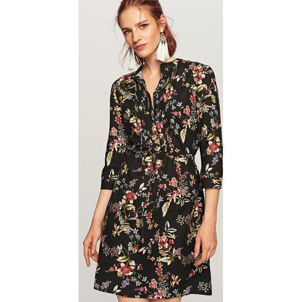 1938a55334 Sukienka w kwiaty - Czarny - Sukienki damskie marki Reserved. Za ...