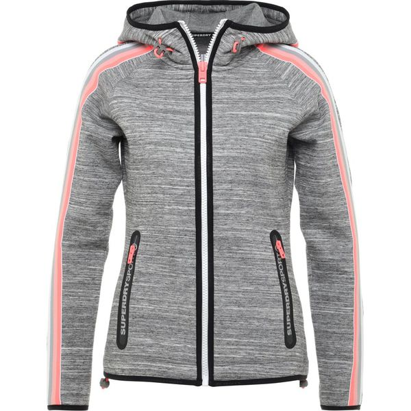 831ffb5f4 Superdry GYMTECH BOUNCE ZIPHOOD Bluza rozpinana grey super grit ...