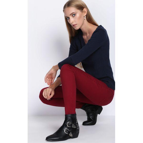 9e00f8489947 Bordowe Spodnie Autumn Air - Czerwone rurki damskie marki Born2be
