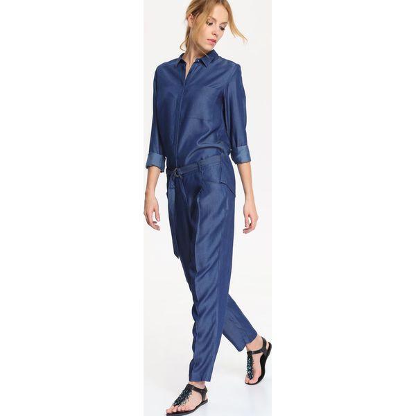 dab340565793ab Niebieskie spodnie damskie długie - Kolekcja lato 2019 - Butik - Modne  ubrania, buty, dodatki dla kobiet i dzieci
