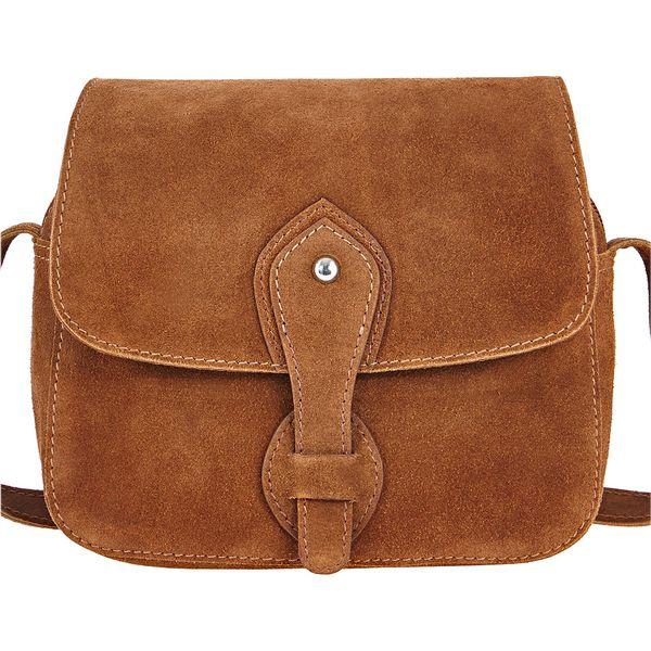 3b5462d259fea Torba skórzana na ramię bonprix koniakowy brązowe torebki jpg 600x600 Koniakowe  torebki damskie