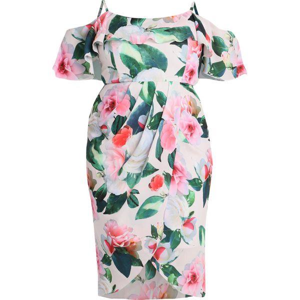 13e4d864fc City Chic DRESS LOVE ME DO Sukienka koktajlowa white pink - Białe ...