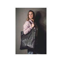 bd0f4060756e3 Grafitowa zamszowa torebka shopper do noszenia na ramieniu. Shopper bag  marki Karolina audycka. Za