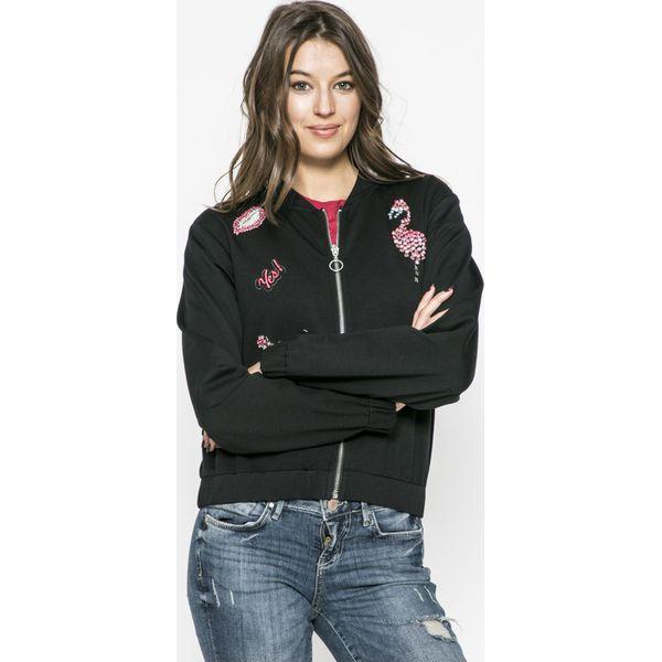 5c7cf9324eb24 Guess Jeans - Bluza Flamingo - Czarne bluzy damskie marki Guess ...