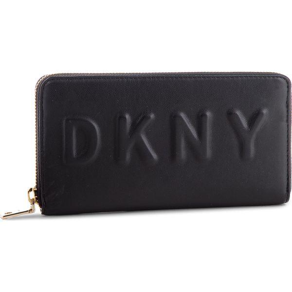 398d04d2b1b82 Duży Portfel Damski DKNY - Tilly Lg Zip Around R74QV103 Blk Gold BGD ...
