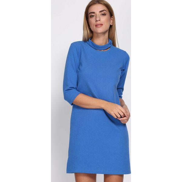 5d86b702fc Niebieska Sukienka House Of Cards - Niebieskie sukienki damskie ...
