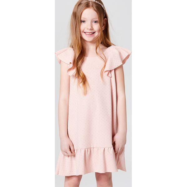 6caf0e38 Dziewczęca sukienka z falbanami little princess - Różowy