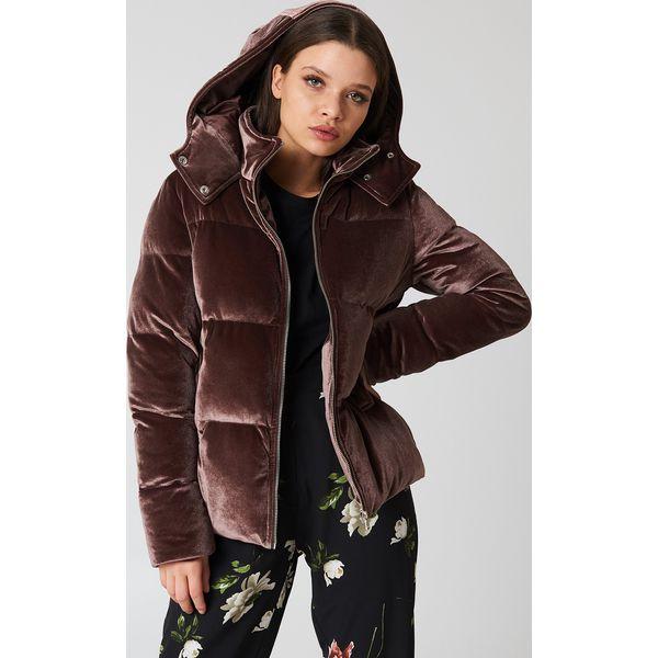 39df87e414869 Boohoo Aksamitna kurtka z ociepleniem - Brown - Kurtki damskie marki ...