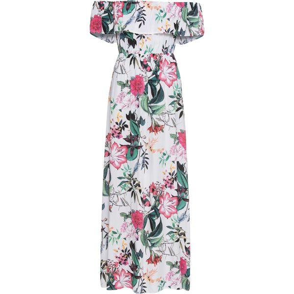 45a7b34aa5 Długa sukienka w kwiaty bonprix biały w kwiaty - Sukienki damskie marki  bonprix. Za 149.99 zł. - Sukienki damskie - Odzież damska - Butik - Modne  ubrania