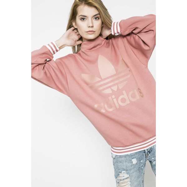 b64da93c0 adidas Originals - Bluza - Szare bluzy damskie marki Adidas ...