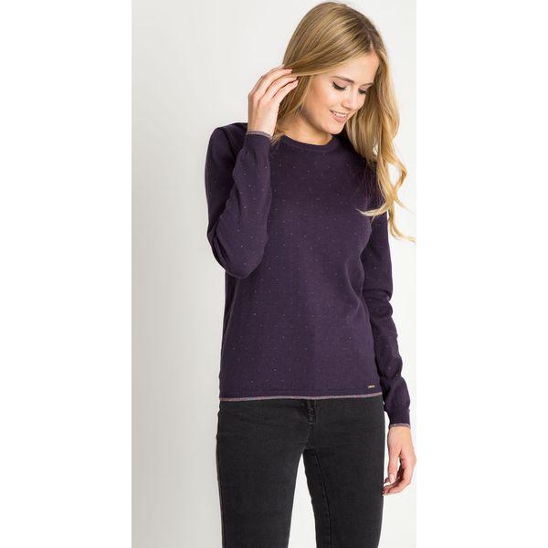 2d0803ae3a4e3b Fioletowy sweter z błyszczącymi drobinkami QUIOSQUE - Swetry ...