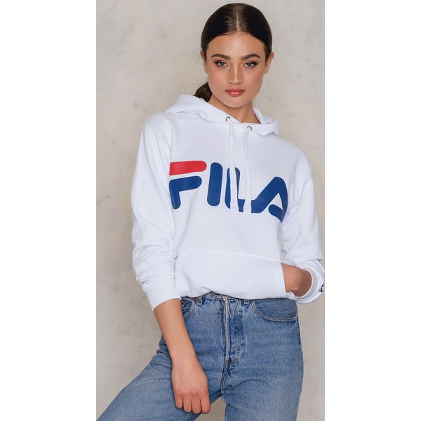 Darmowa dostawa Nowa lista dostępny FILA Bluza z kapturem Classic Logo - White