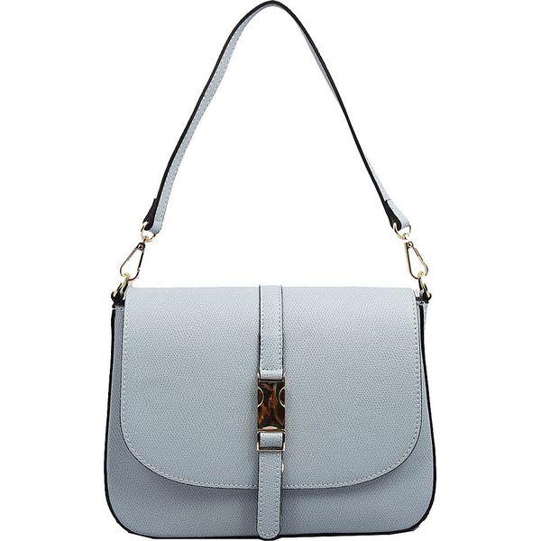 ba911d2bde Skórzana torebka w kolorze błękitnym - 24 x 17 x 8 cm - Torebki ...