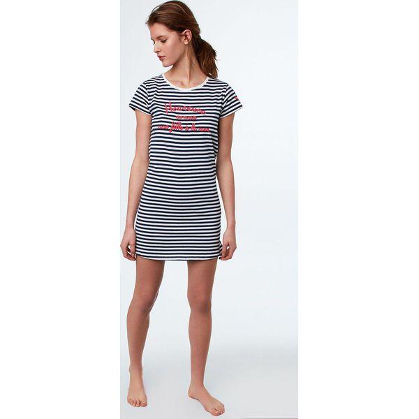 1d8a63555ed1b1 Etam - Koszula nocna Galla - Szare piżamy damskie Etam, z bawełny, z ...