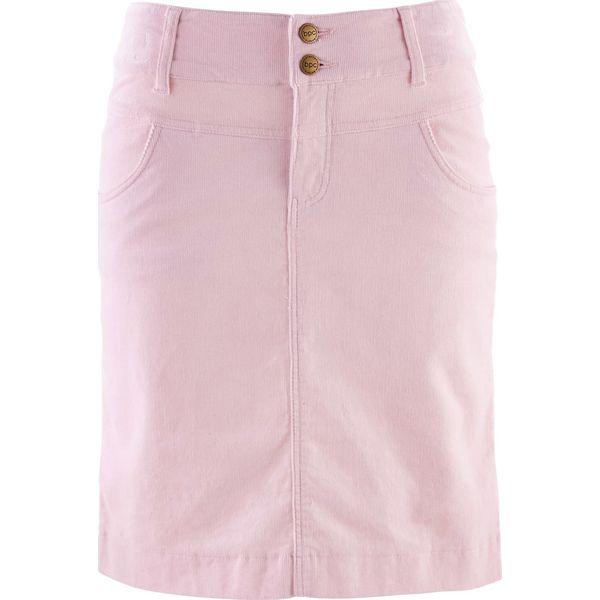 f9e5f6d1 Spódnica sztruksowa bonprix perłowy jasnoróżowy
