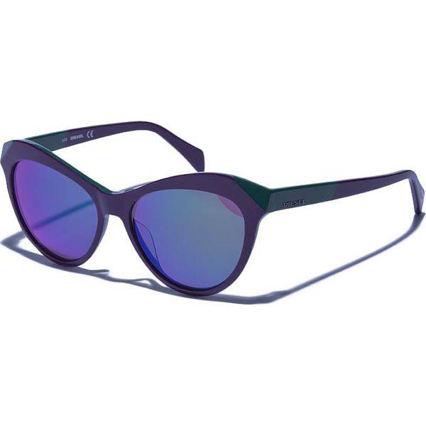 3dfbdba9788e66 Okulary damskie w kolorze fioletowo-niebiesko-zielonym - Niebieskie ...