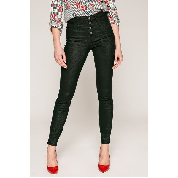 256704215fe1f Guess Jeans - Jeansy 1981 Exposed Button - Czarne jeansy damskie ...