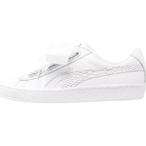 55af7bbe Puma BASKET HEART OCEANAIRE Tenisówki i Trampki white - Białe obuwie ...
