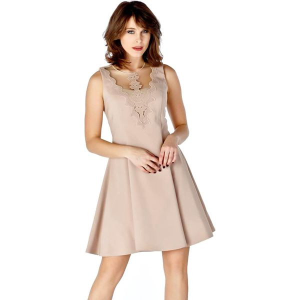 828102b563 Sukienka w kolorze beżowym - Sukienki damskie marki Ryłko by Agnes ...