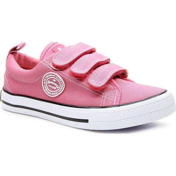 0758dc6b Tenisówki dziewczęce na rzepy różowe American Club 36 - Trampki ...