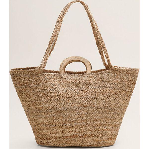 443d6d8a4b2690 Mango - Torebka Aurelia - Brązowe shopper bag Mango, bez wzorów, z ...