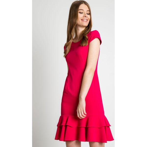 3c969e8059 Dopasowana sukienka z falbanami u dołu BIALCON - Sukienki damskie ...