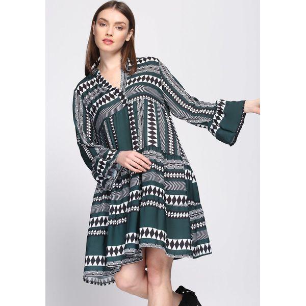 2de7dbd957 Ciemnozielona Sukienka Commendable - Zielone sukienki damskie marki ...