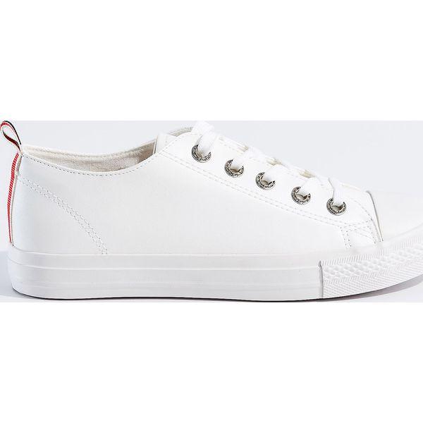 84c351aa6d4ce Białe trampki ze skóry ekologicznej - Biały - Białe trampki damskie ...