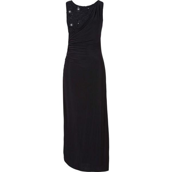 cdd38cd3e Długa sukienka bonprix czarny - Czarne sukienki damskie marki ...