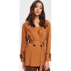 cade0afd76305 Krótki płaszcz z Tencelu™ - Brązowy. Płaszcze damskie marki Reserved. Za  199.99 zł