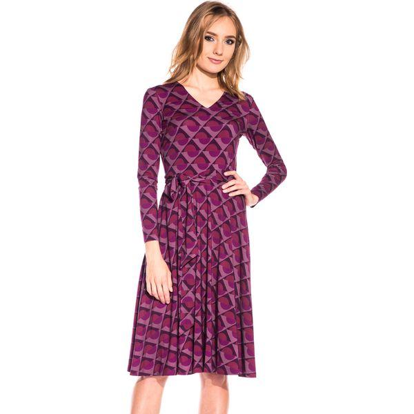 8038c16b Dzianinowa sukienka z długim rękawem BIALCON