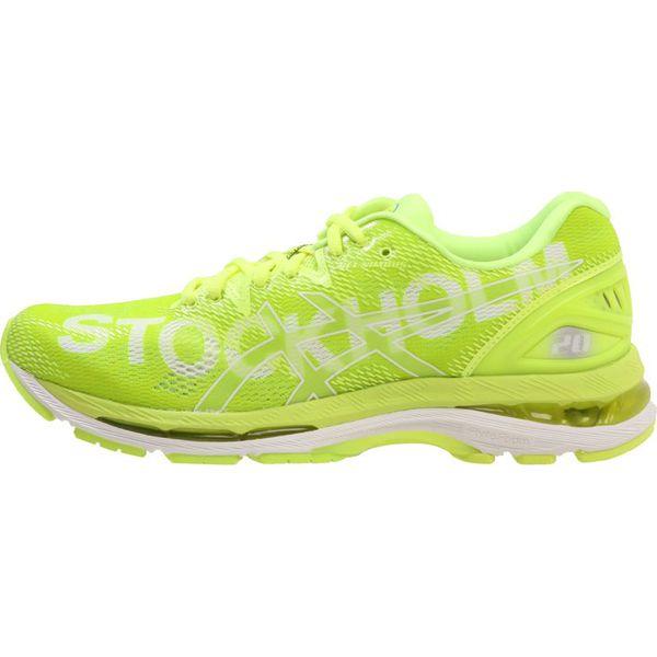ASICS GEL NIMBUS 20 STOCKHOLM MARATHON Obuwie do biegania treningowe flash yellow