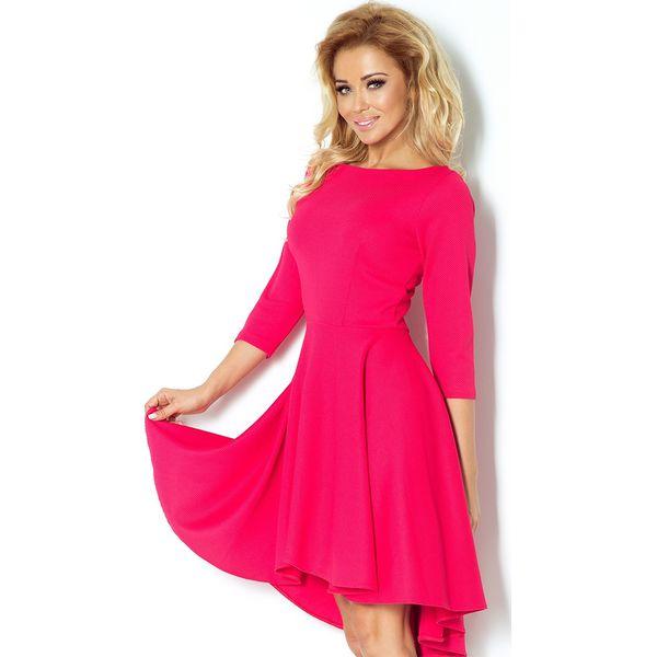 7e5163c391585 Sukienka asymetryczna sf-90-2 - Różowe sukienki damskie marki SaF ...