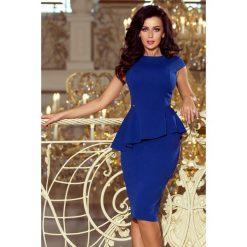 95affe0f2e Elegancka Sukienka Midi Z Baskinką Chabrowa. Sukienki damskie marki NUMOCO.  W wyprzedaży za 169.00