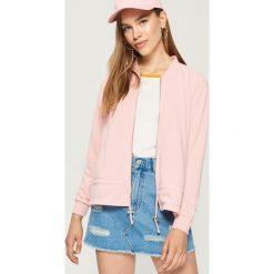 28a6e98ca6966f Bluza ze ściągaczem - Różowy. Czerwone bluzy damskie Sinsay, l, bez wzorów,