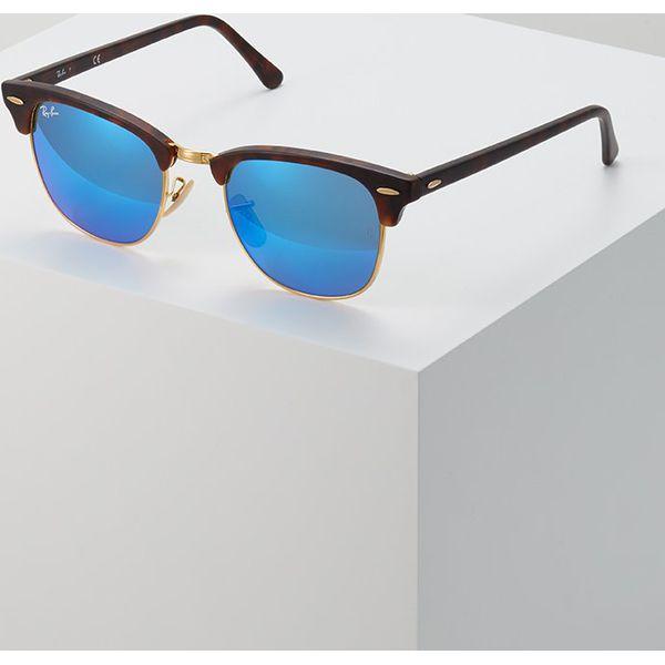 RayBan CLUBMASTER Okulary przeciwsłoneczne brown blue - Okulary ... 49baef741e68