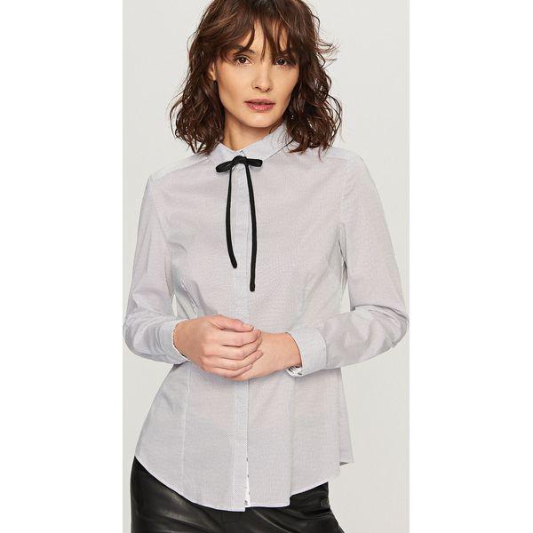 Koszula z wiązaniem przy kołnierzu - Kremowy - Białe koszule damskie ... 0c8c47f657