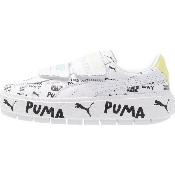 Puma PLATFORM TRACE STRAP Sneakersy niskie white